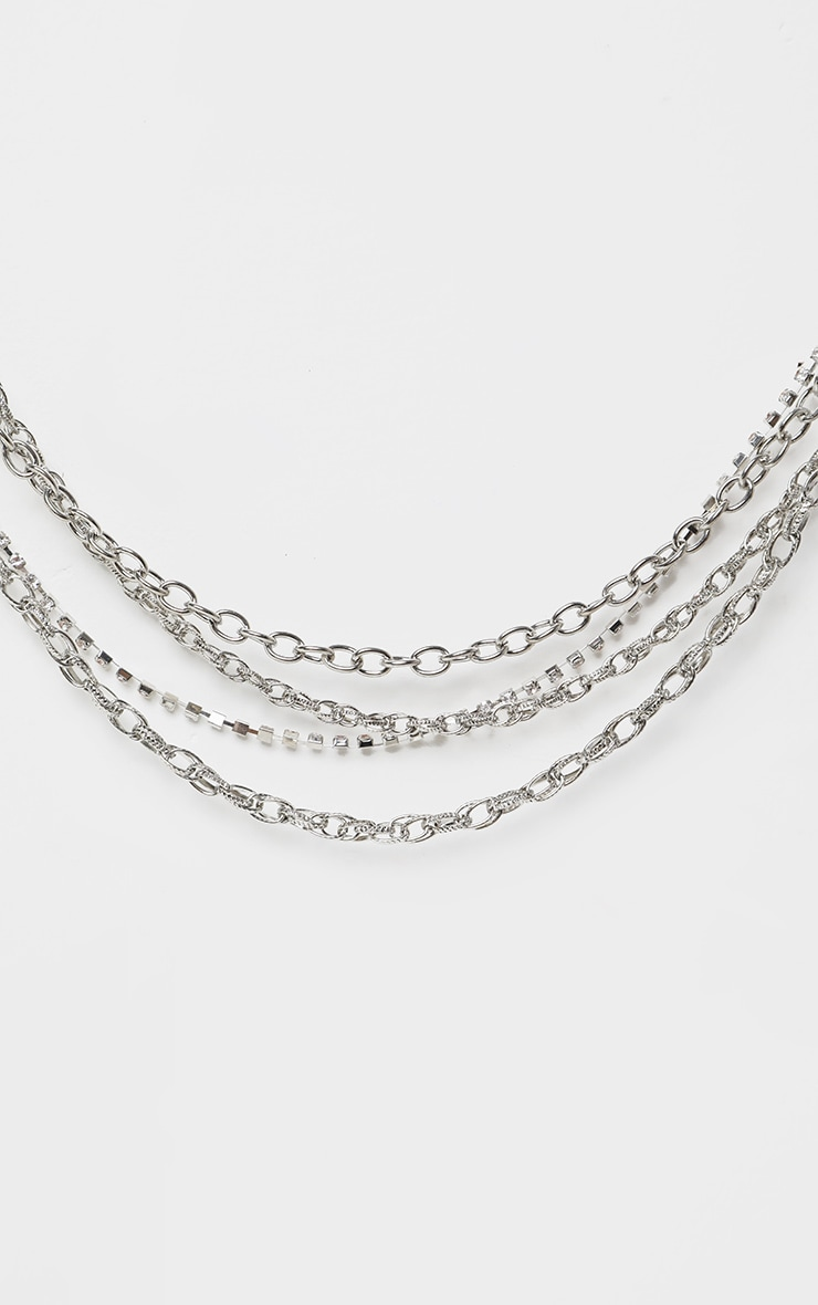 Silver Layering Small Chain Belt 2