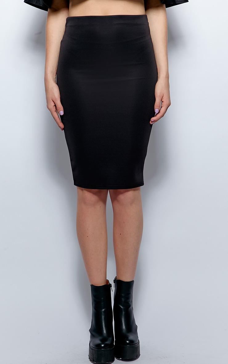 Sydney Black Midi Skirt 3