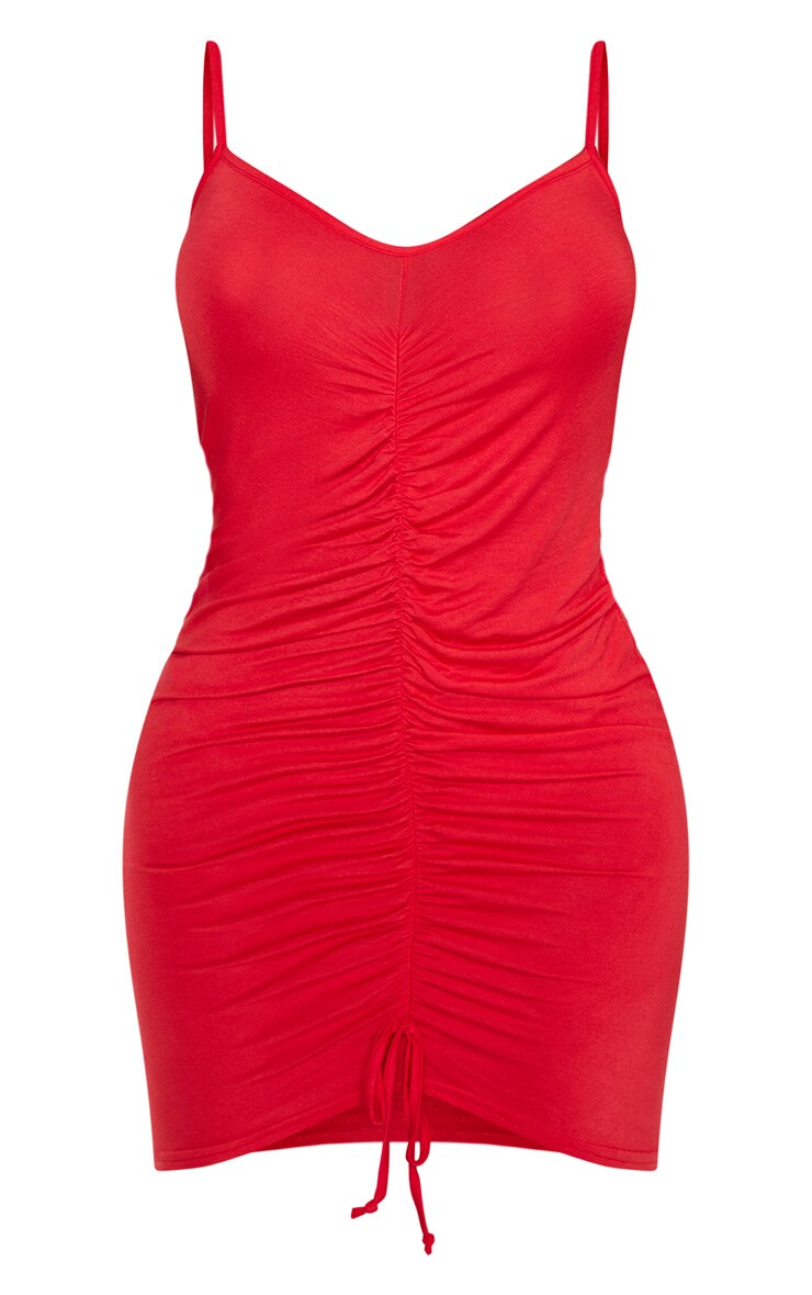Shape Red Jersey Ruched Bodycon Dress  3