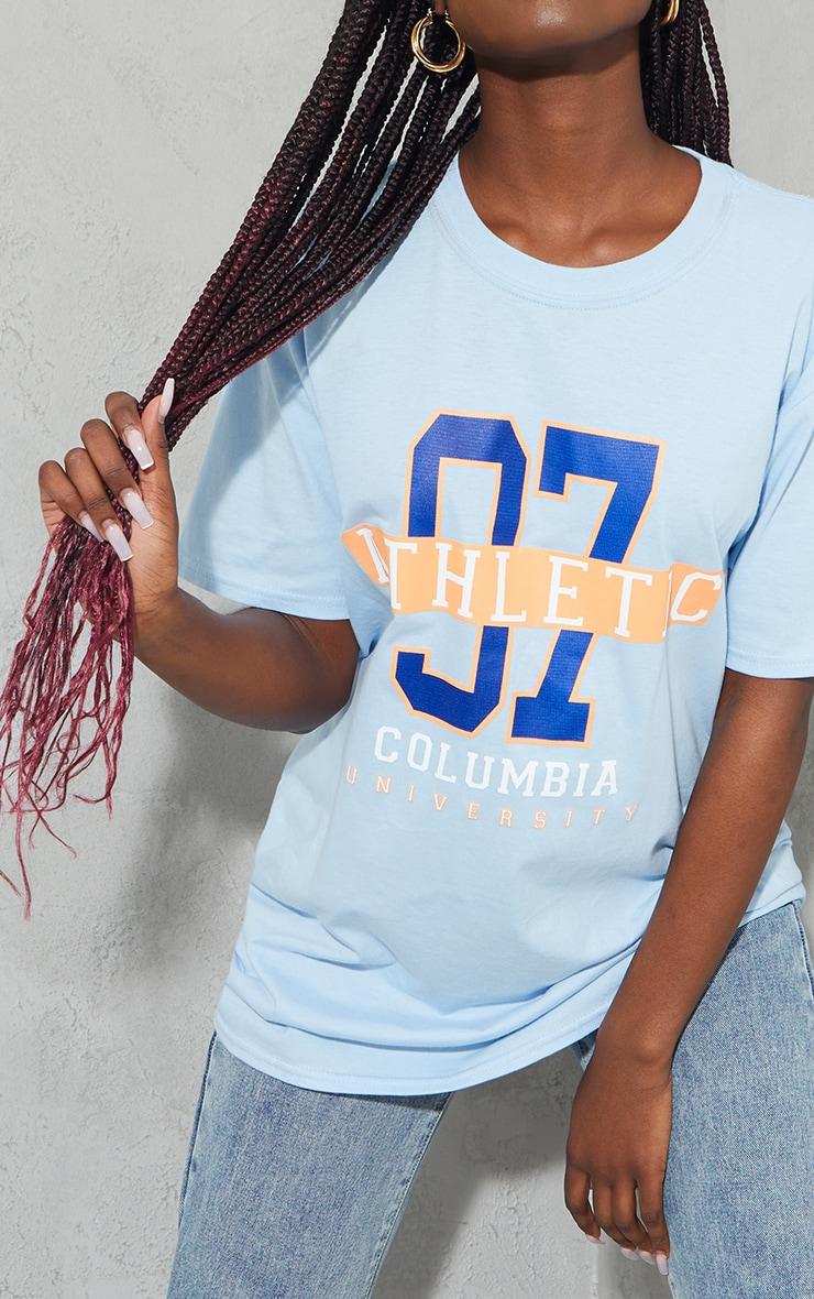 Baby Blue 97 Athletic Slogan T Shirt 4