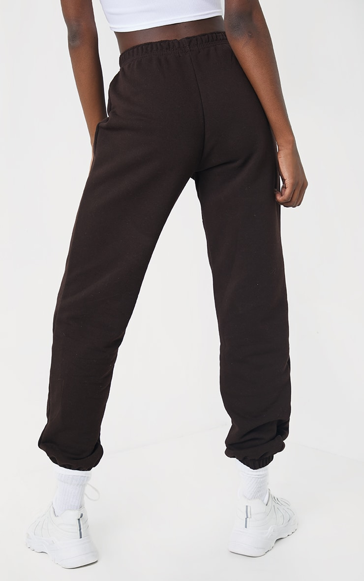Tall Chocolate Brown Pocket Thigh Casual Joggers 3