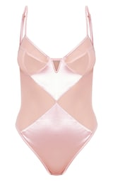 fa73650ea78 Pink V Wire Satin And Mesh Body image 3