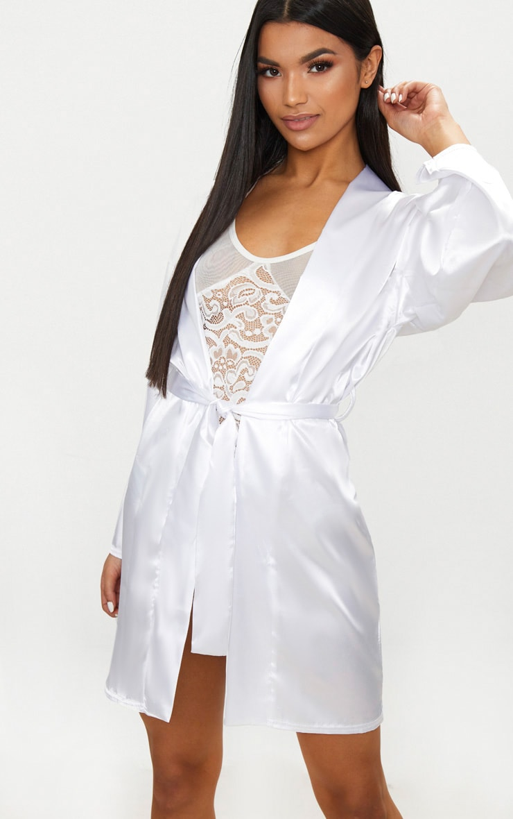 White Satin Robe 1
