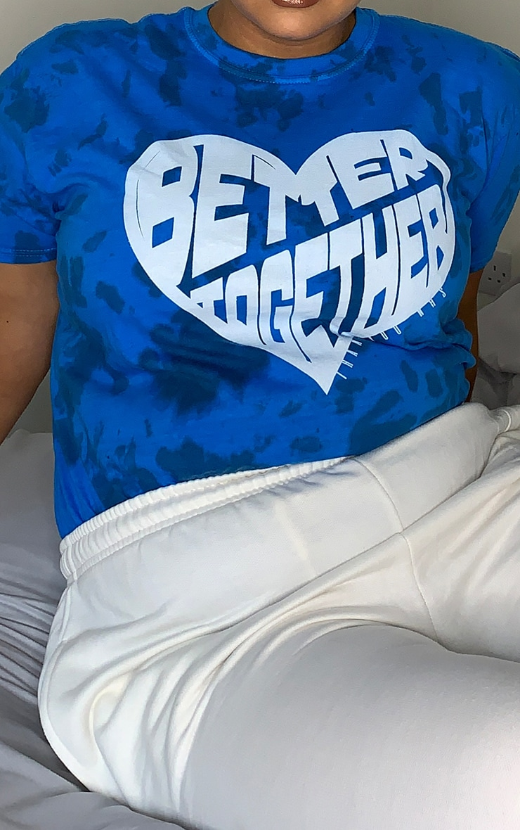 Plus Blue NHS Tie Dye Better Together T Shirt 4
