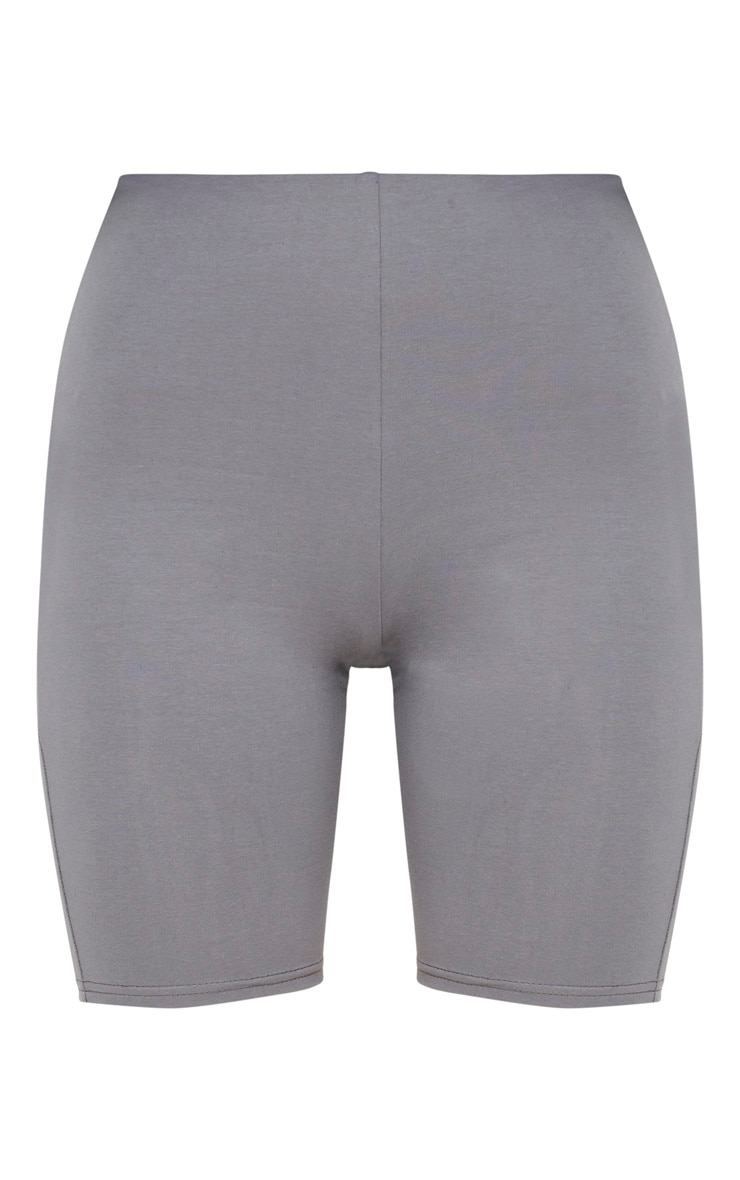 Short legging en coton stretch gris ardoise 4