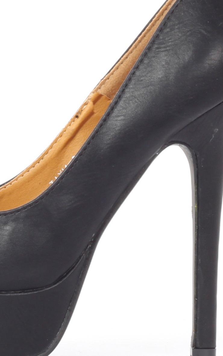 Tabitha Black Peep Toe Court Shoes 4