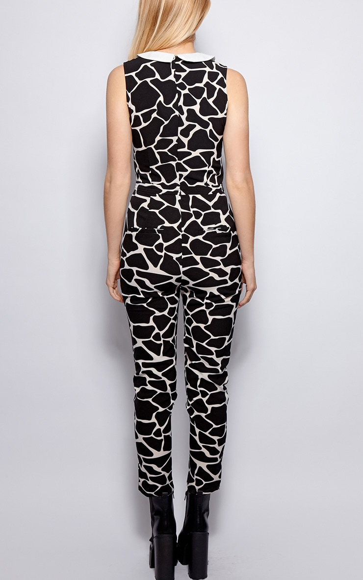 Colleen Monochrome Abstract Print Jumpsuit 2