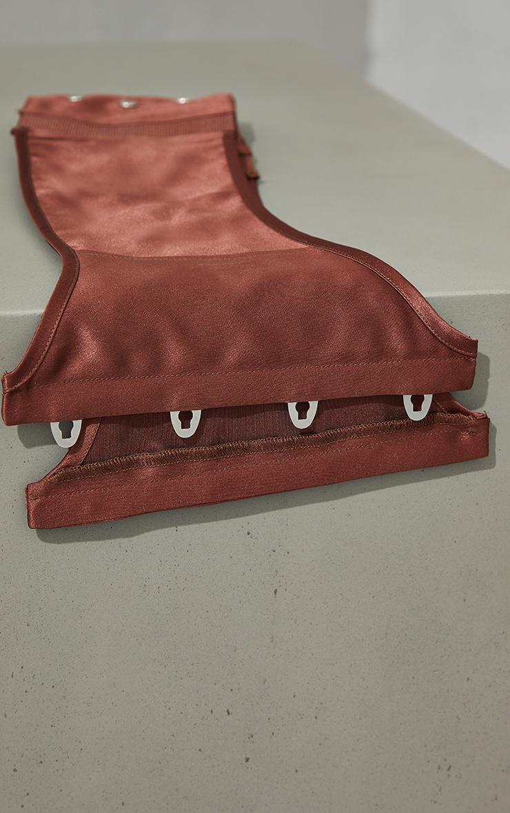 Chocolate Satin Corset Belt 2
