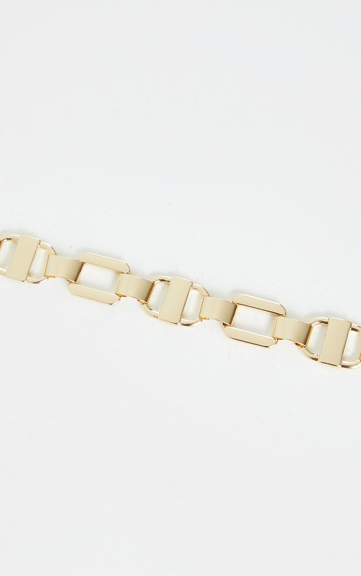 Gold Chunky Multi Link Chain Necklace 4