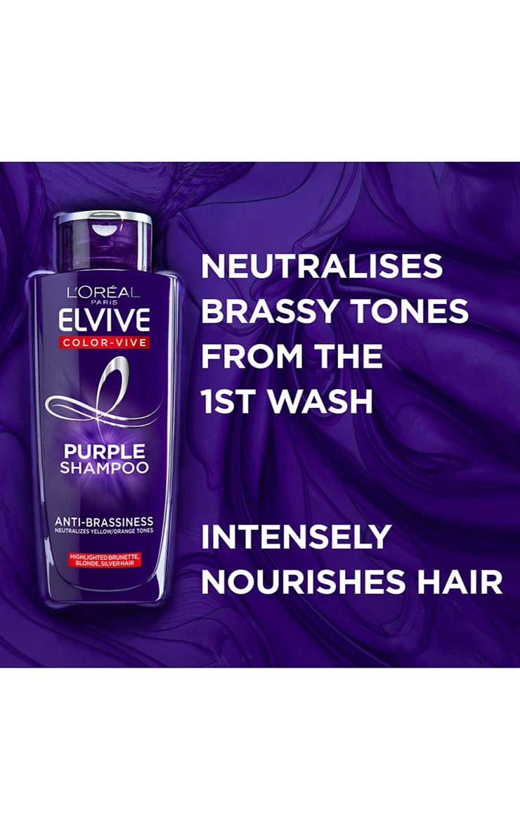 L'Oreal Elvive Colour Protect Anti-Brassiness Purple Shampoo 200ml 5
