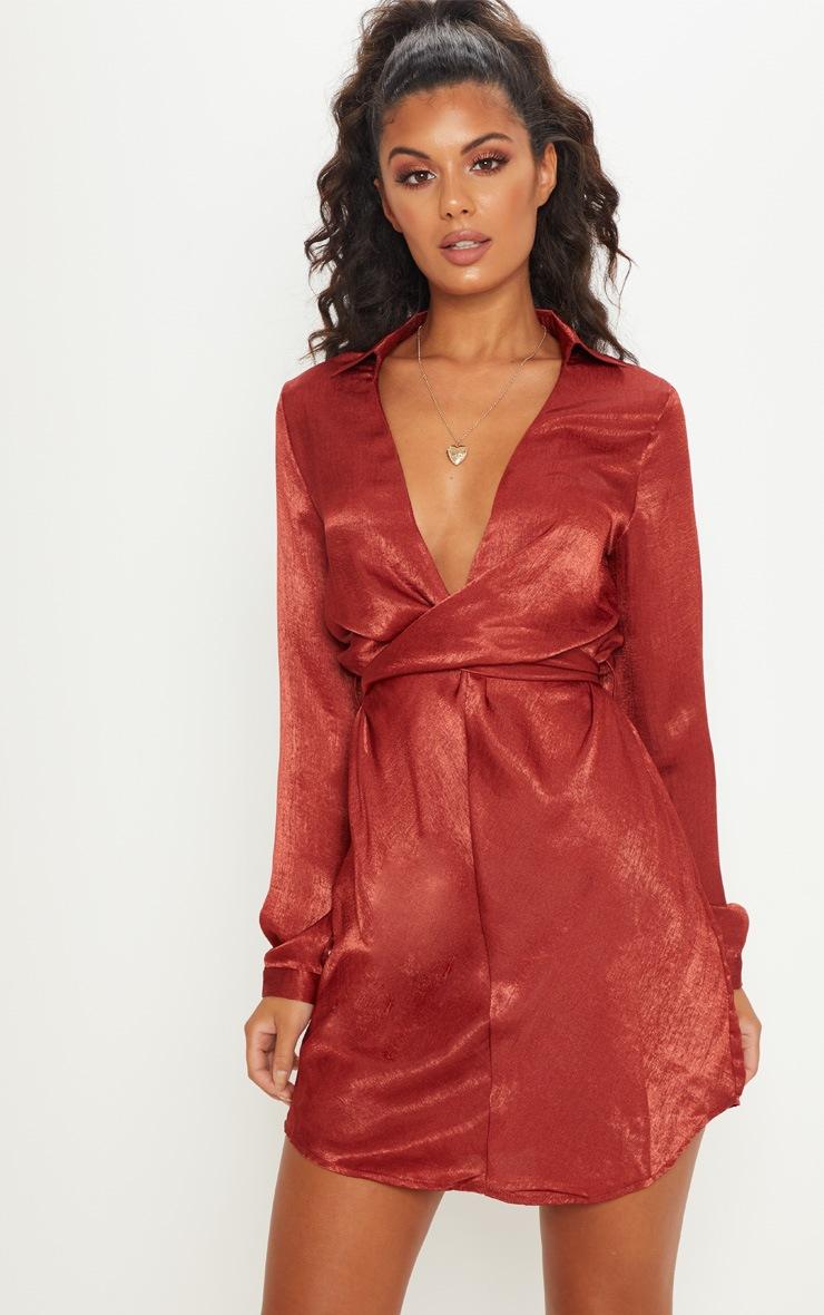 Silk Dresses Red