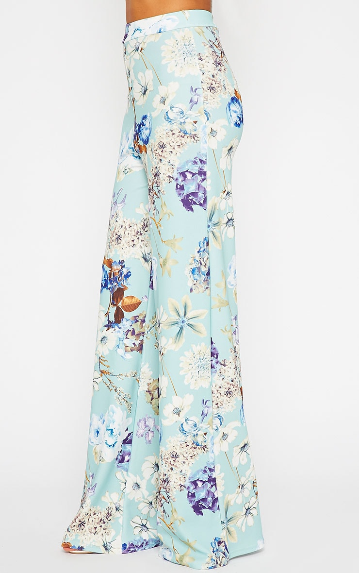 Chantal Floral Print Flare Trousers 4