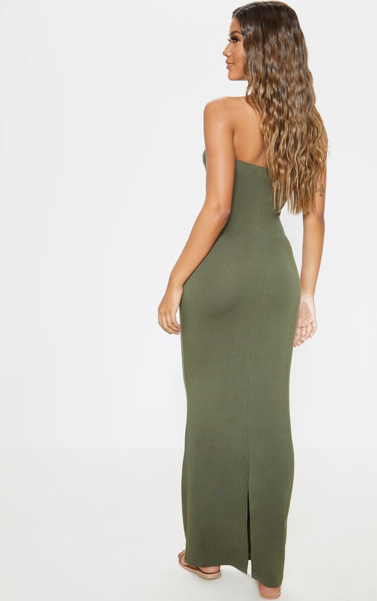 Khaki Bandeau Maxi Dress 2