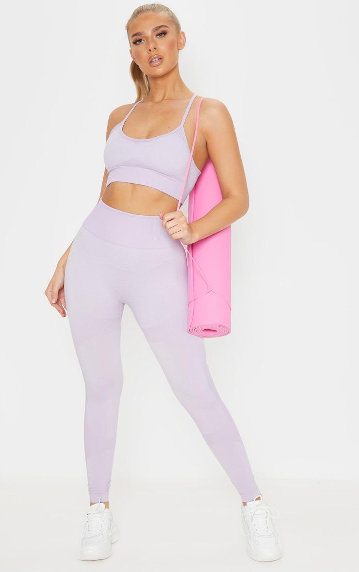 Lilac Seamless Longline Sports Bra Top 4
