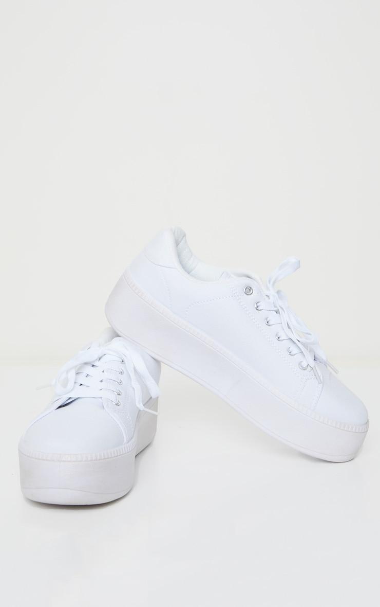 White Flatform Trainer 3