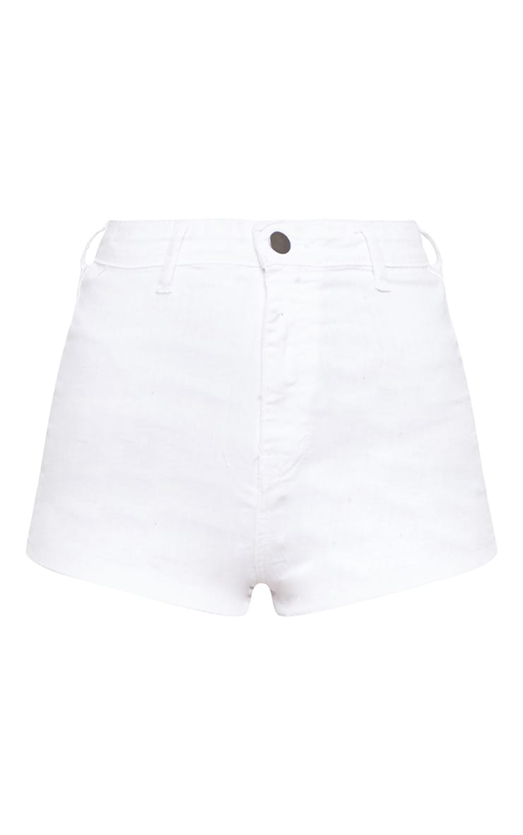 White Disco Fit Short 3