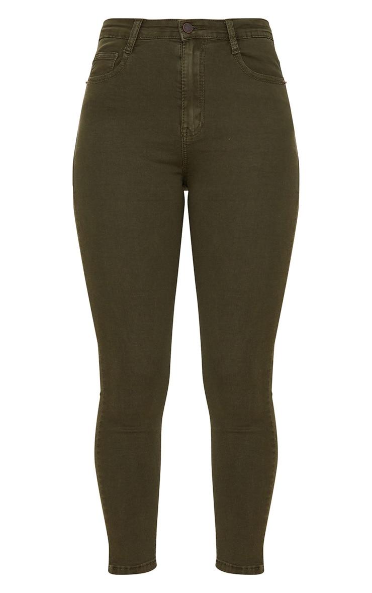 5 Pocket Khaki Skinny Jean 3
