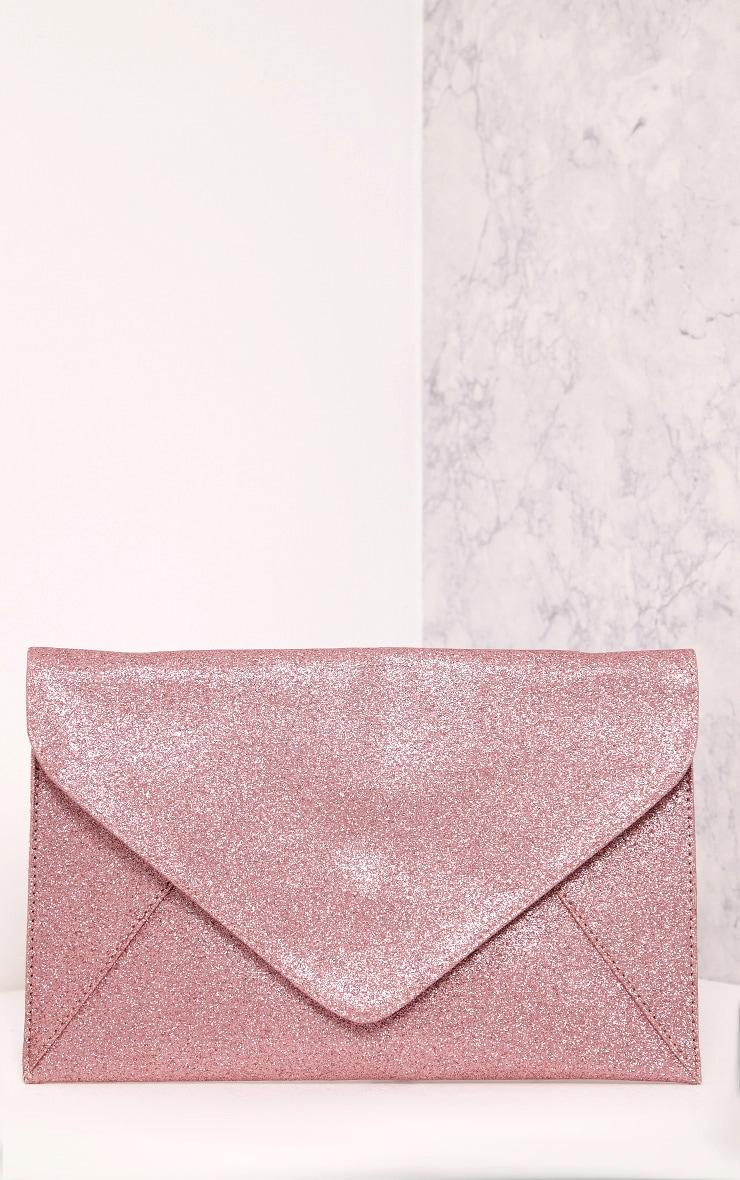 Paige Pink Glitter Clutch Bag 3