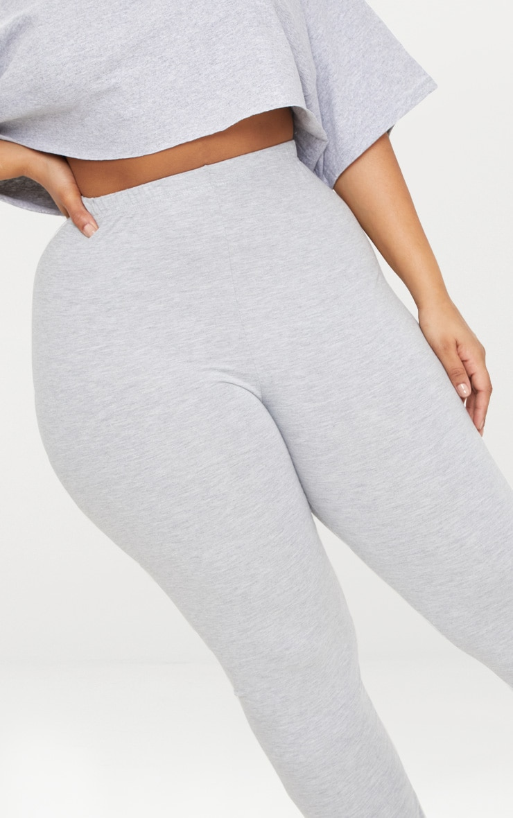 Plus legging en jersey gris 5