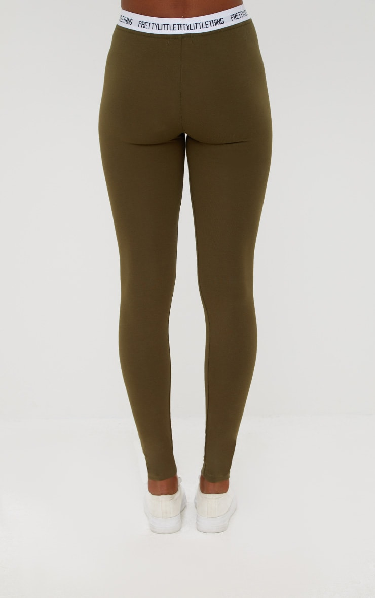 PRETTYLITTLETHING Khaki Leggings 4