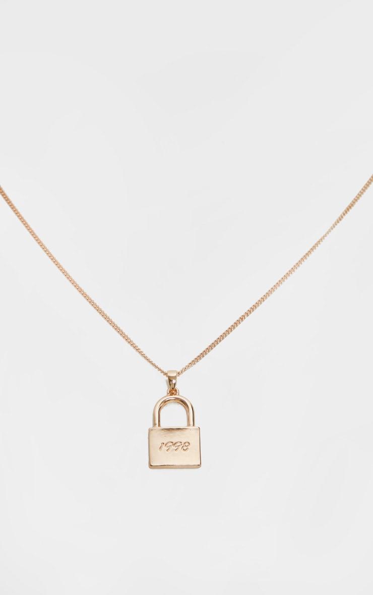 Gold 1998 Padlock Necklace 3