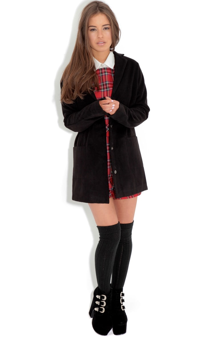 Andrej Black Oversized Boyfriend Coat-16 2