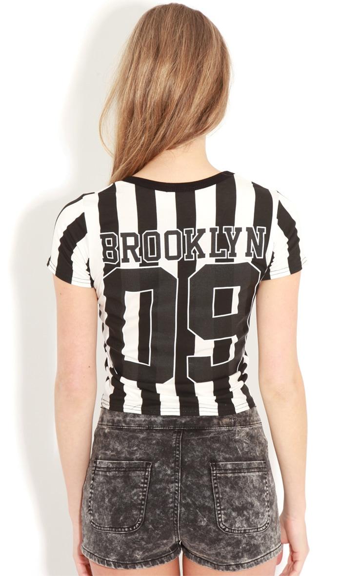 Kerri Black & White Brooklyn T-shirt 2