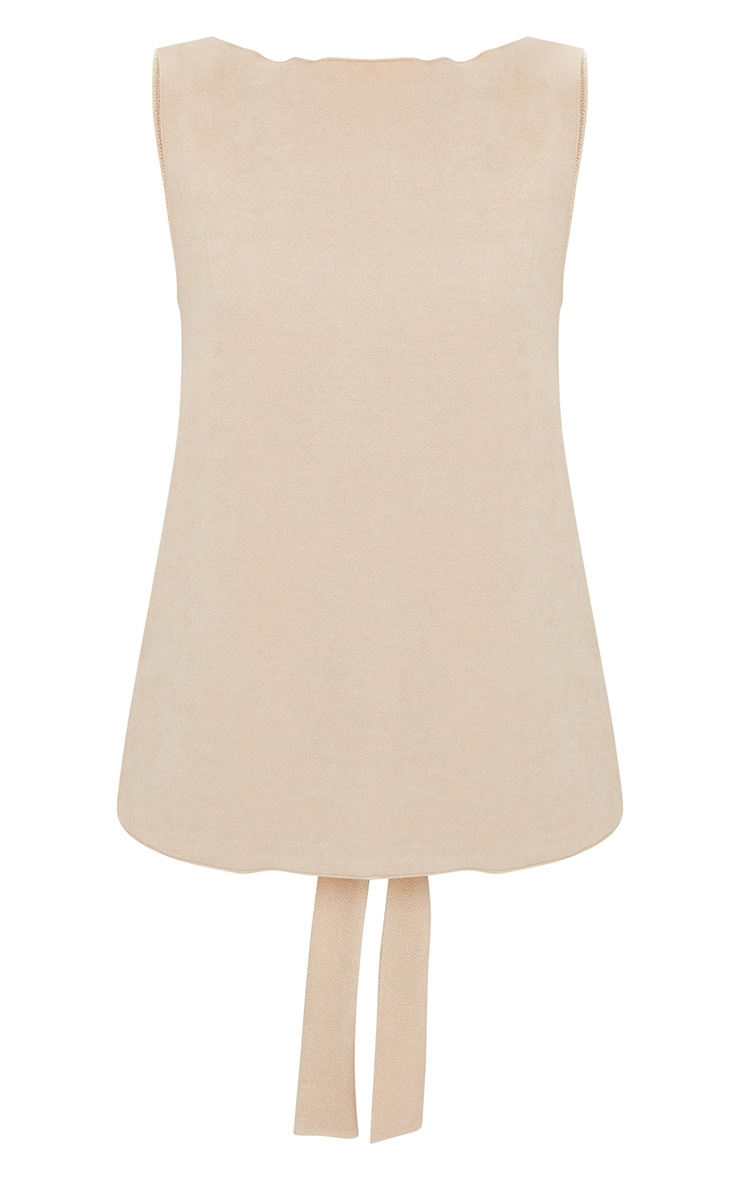Nude Bow Back Sleeveless Top 3