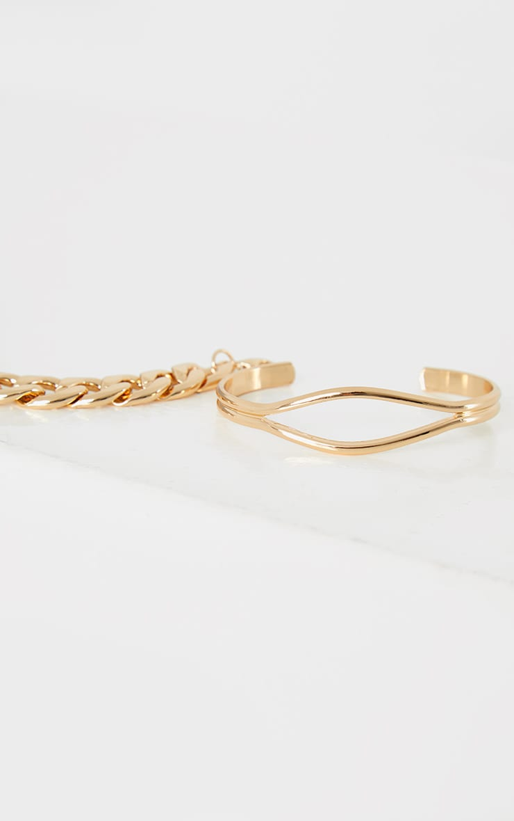 Gold Chunky Chain Assorted Bracelets 2
