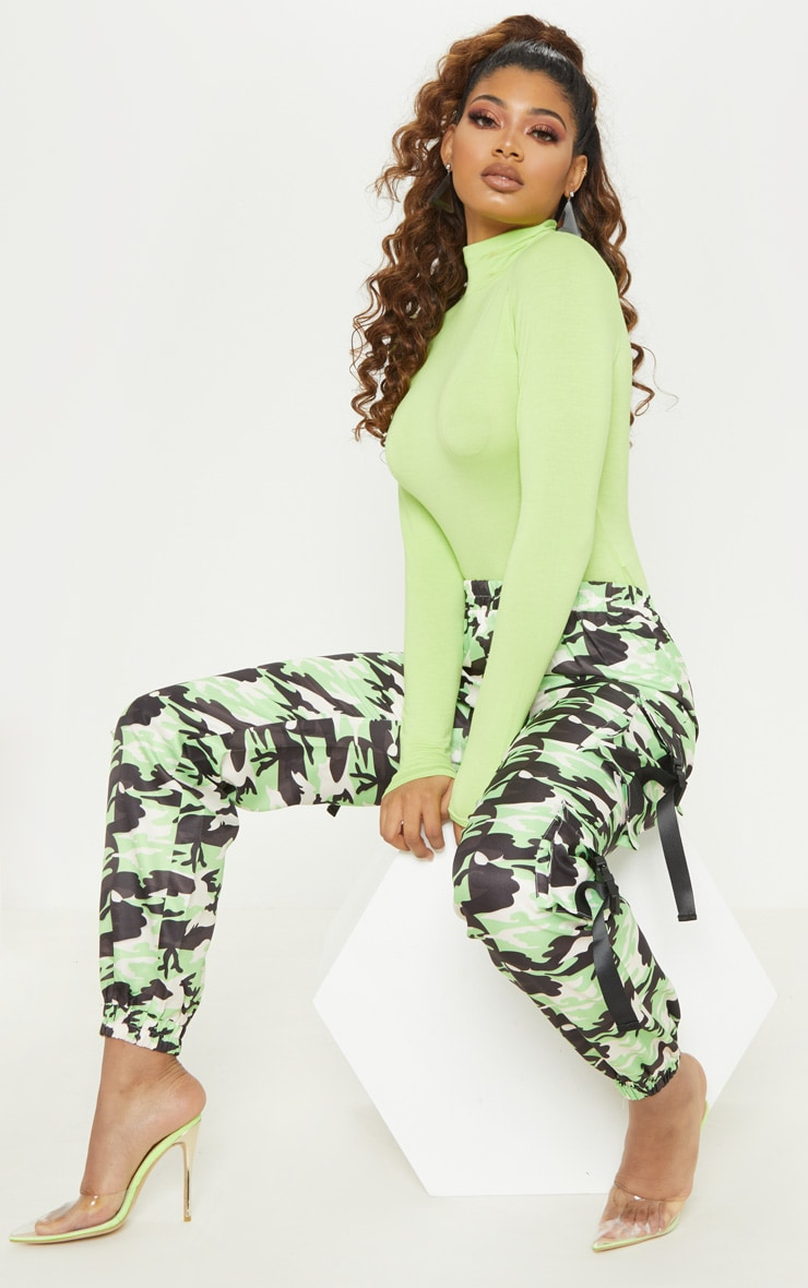 Tall Neon Lime Roll Neck Bodysuit 5