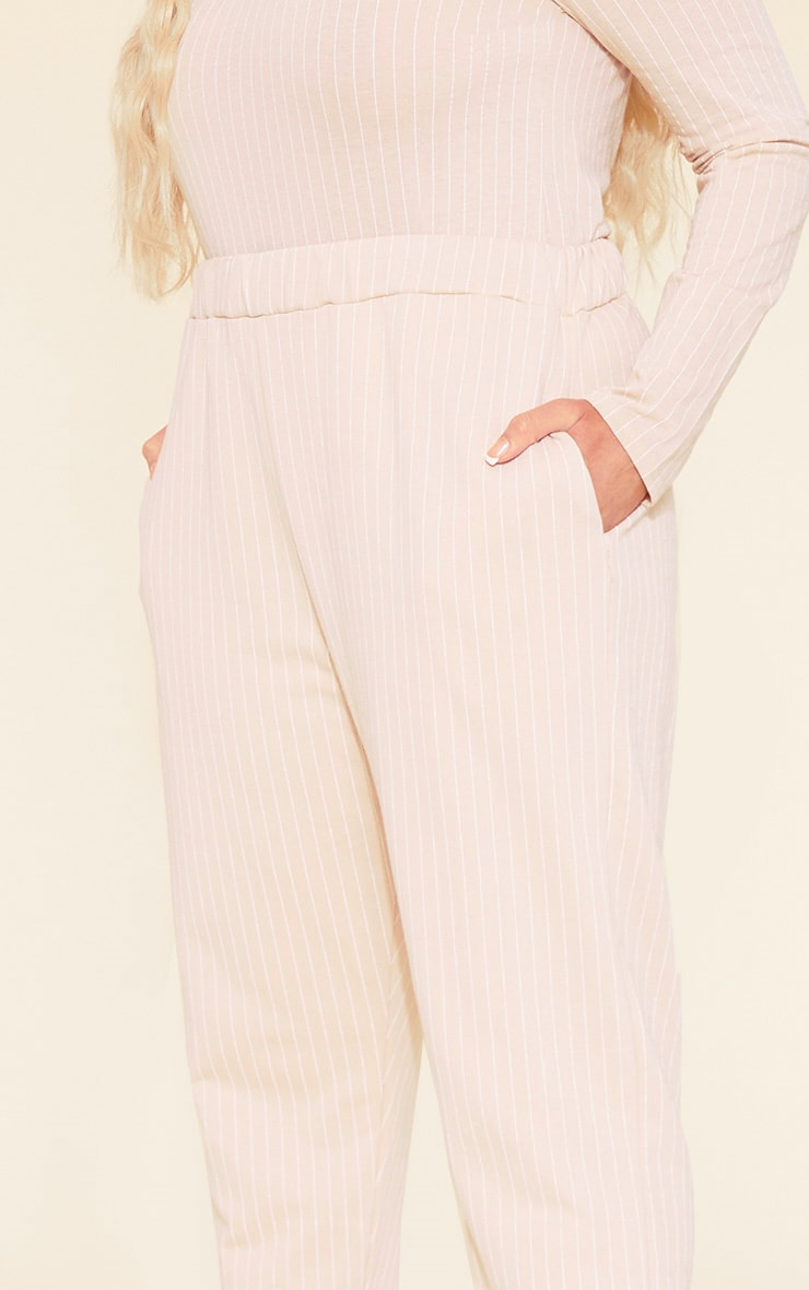 RECYCLED Plus Deep Nude Pinstripe Jogger 5