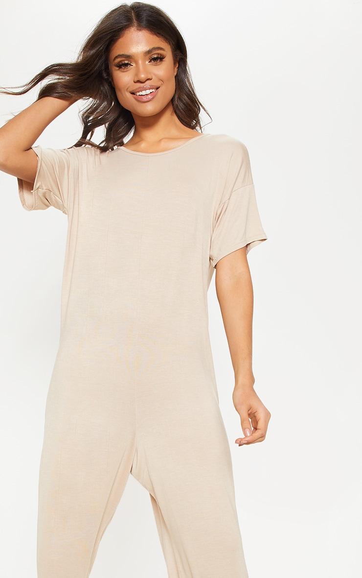 Nude Oversized T Shirt Culotte Jumpsuit 5