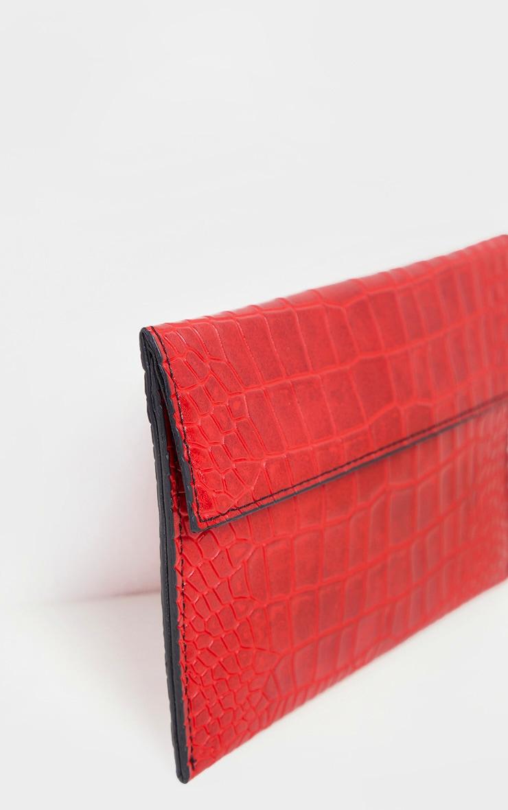 Red Croc Clutch Bag     3