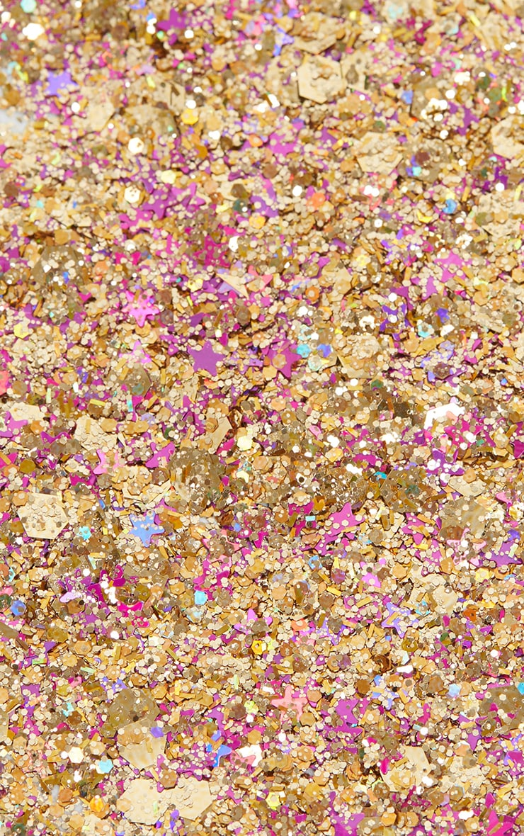 PRETTYLITTLETHING Chunky Pink Gold Glitter 4