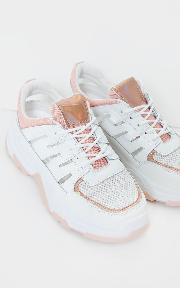 Pink Chunky Sole Detail Sneakers 2