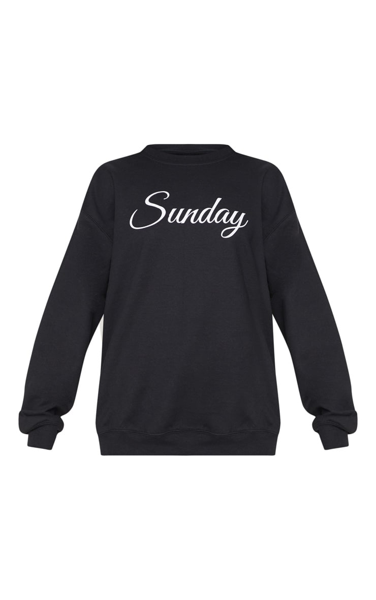 Black Sunday Slogan Sweatshirt 3