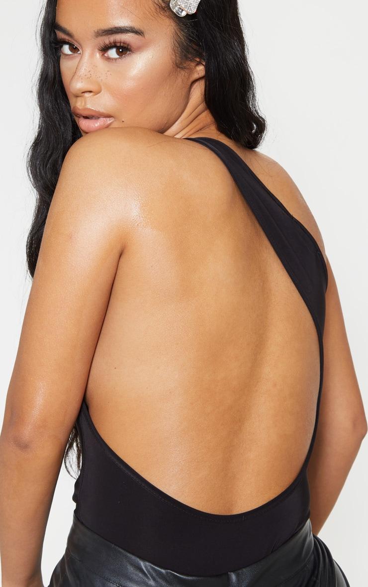 Body moulant dos-nu noir à détail découpes 6