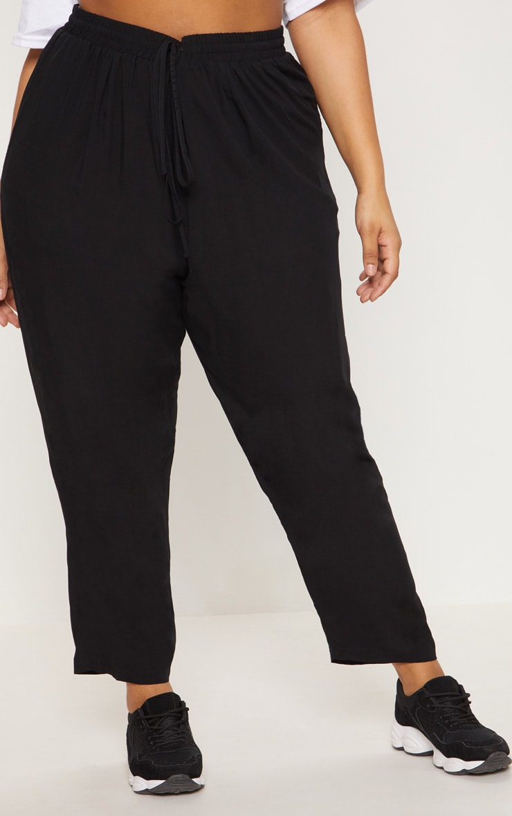 Plus Black Casual Pants 2