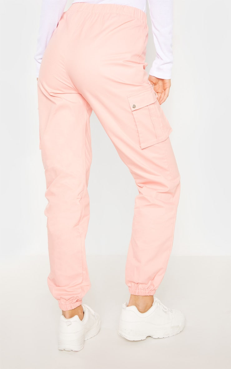 Tall Pink Pocket Detail Cargo Pants 4