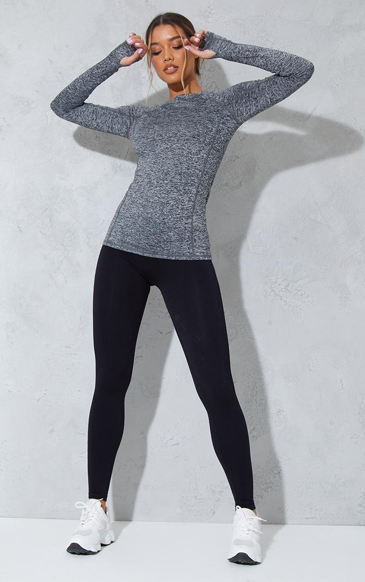 Sania top de sport manches longues noir 3