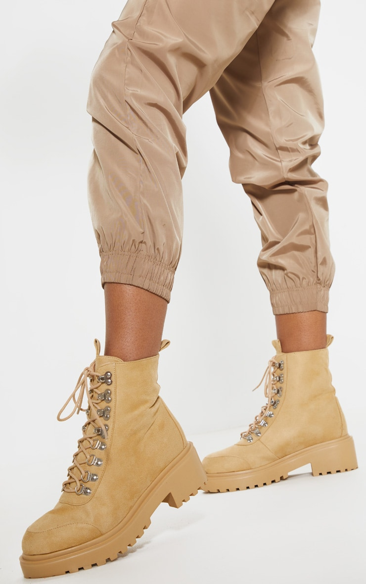 Sand Chunky Sole Hiker Boot 1