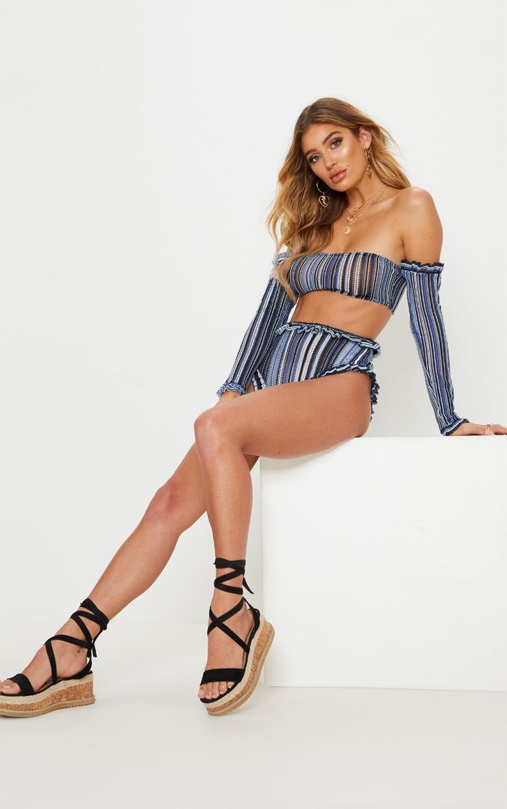 Blue Bardot Crop 4