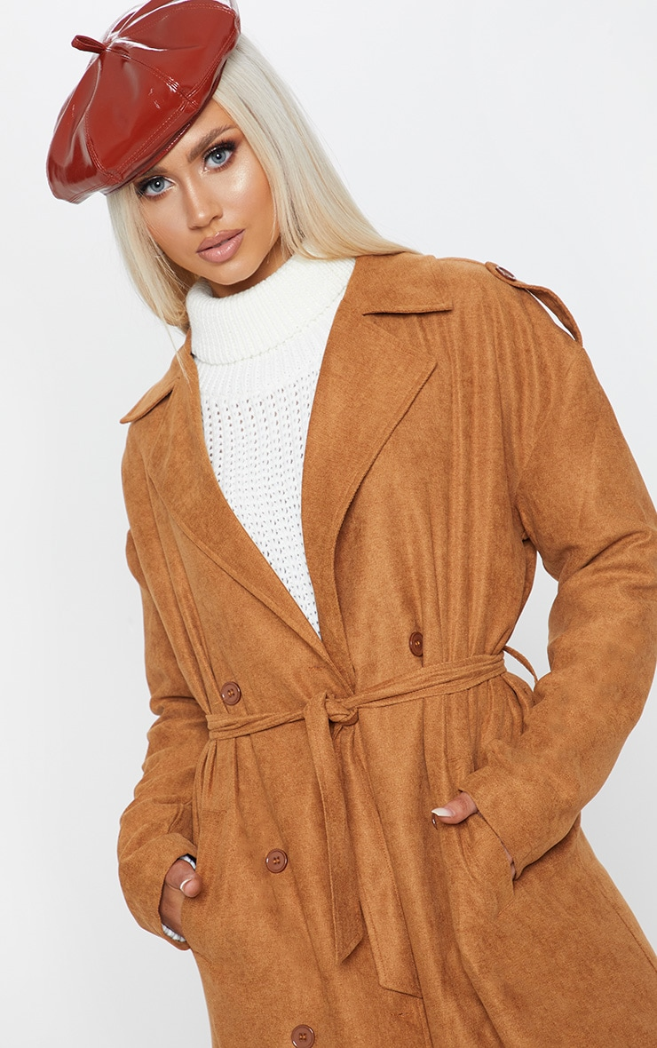 Tan Cord Belted Trench 5