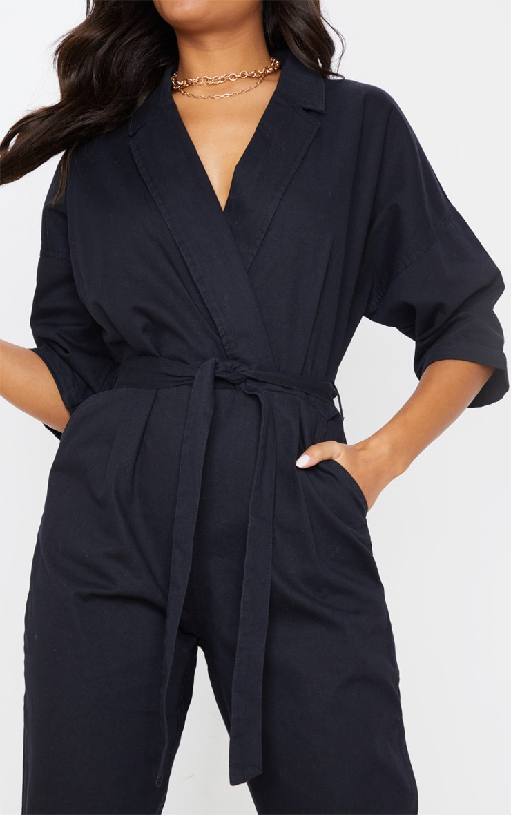 Black Denim Utility Jumpsuit 5