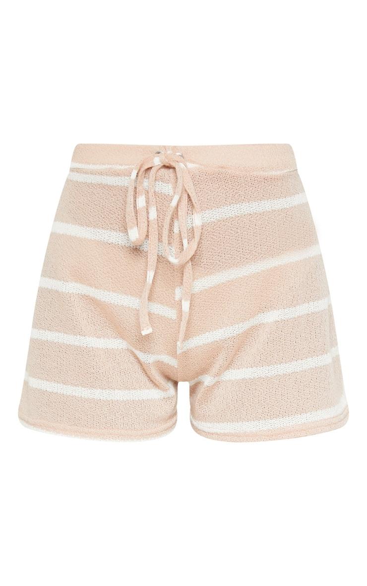 Sand Lightweight Knit Tie Waist Short 3