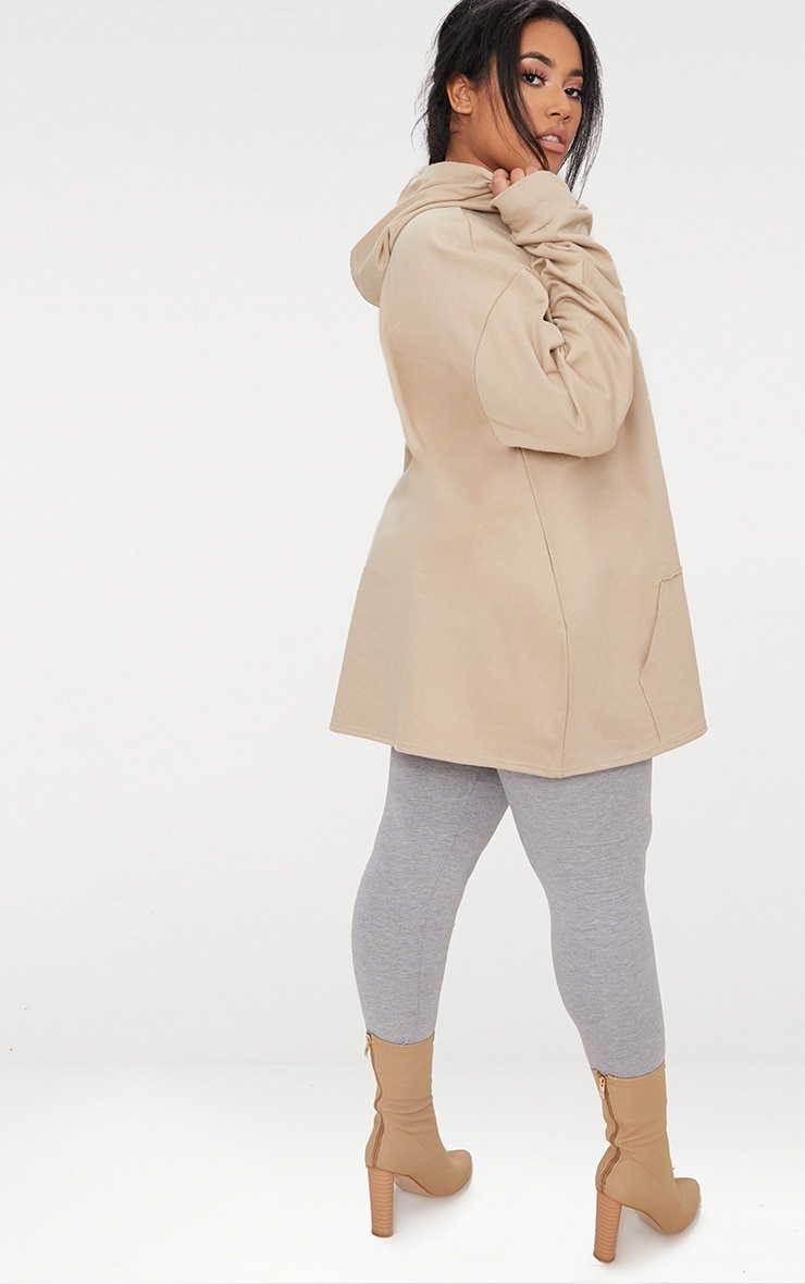 Plus Taupe Oversized Hoodie 2