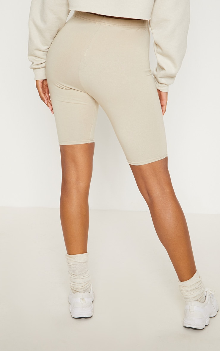Short legging en coton stretch sable 3