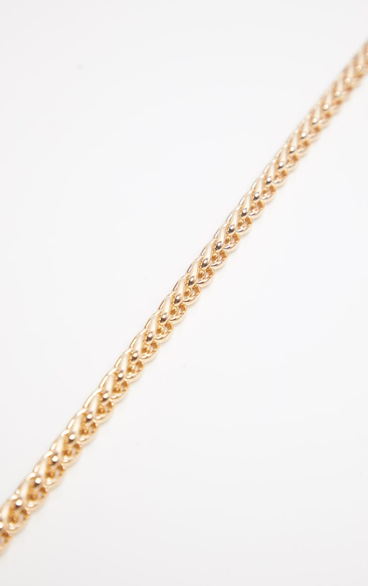 Gold Chunky Rope Chain Necklace 4