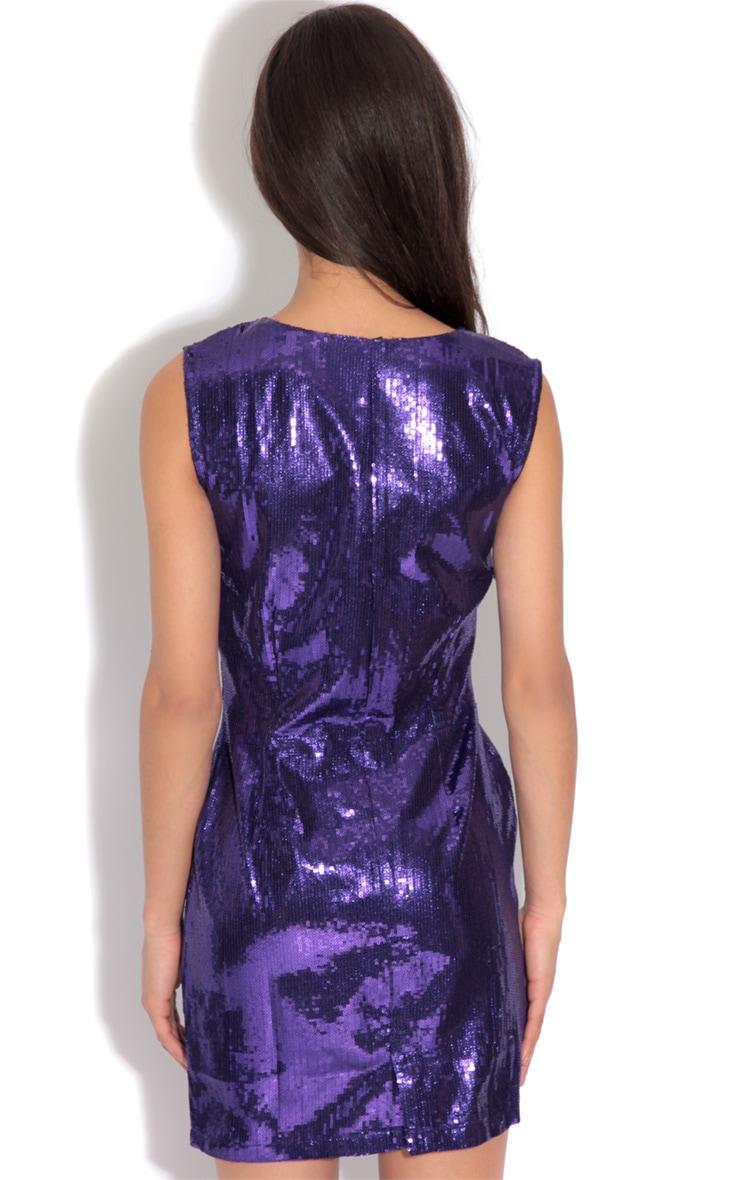 Ingrid Purple Sequin Dress 2