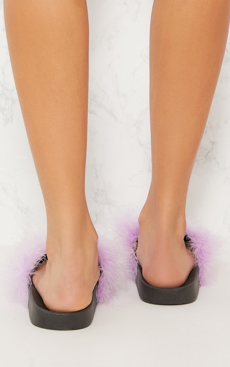 Lilac Feather Slides 3